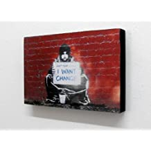 Banksy Keep Your Coins I Want Change 6 X 4 Block Mounted Print (postcard size) by Totally Graphics
