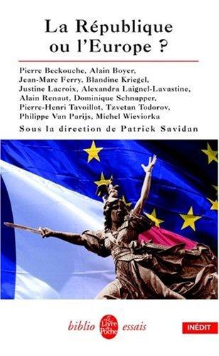 La Republique Ou L'Europe (Ldp Bib.Essais) par From Librairie generale francaise