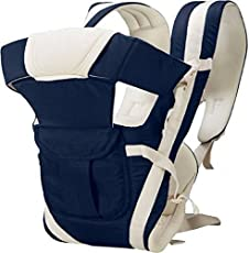 Chinmay kids Baby Carrier With Hip Seat And Belt, Head Support - (4-12 Months_Dark Blue)