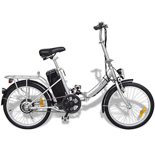 Festnight Bicicleta Eléctrica Plegable con Batería Litio-Ion 24V 8AH de Aluminio con Pantalla LED 3 Velocidades Velocidad Máx 25kmh Color...