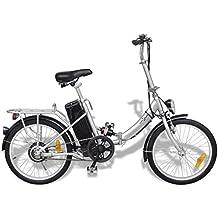 Festnight Bicicleta Eléctrica Plegable con Batería Litio-Ion 24V 8AH de Aluminio con Pantalla LED