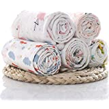 Elementary (Pack of 3) Super-Soft Organic Cotton Muslin Swaddle Blanket/Swaddle wrap for New Born; Baby Shower Gift Set 112 x 112 cm