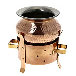 Angithi Food Warmer and Handi Set indian Tableware Dinnerware copper