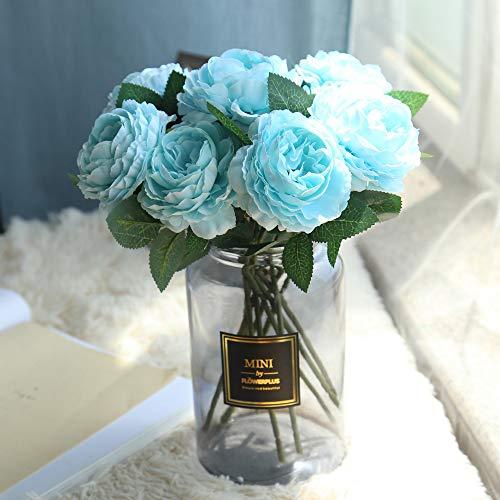 Kunstblumen & -Pflanzen,Hochzeit Kunstblumen, Fake Silk Party Strauß Zuhause Dekor,Kunstpflanze Pretty Artificial Silk Fake Flowers Leaf Floral Wedding Decor
