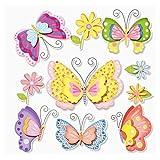 3 D Sticker Schmetterlinge IV, 30 x 30 cm,Wandbild