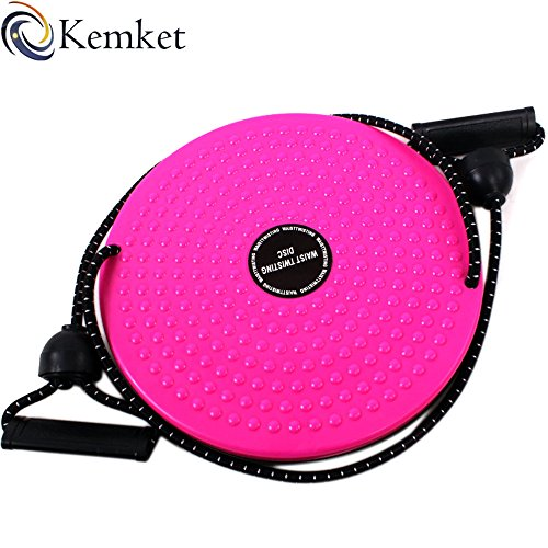 kemket Taille Twister Disc Fitness Massage rund mit Hand Seilen und ohne Seilen Fuß Massagegerät Stepper wriggled Teller Rosa rose With Rope