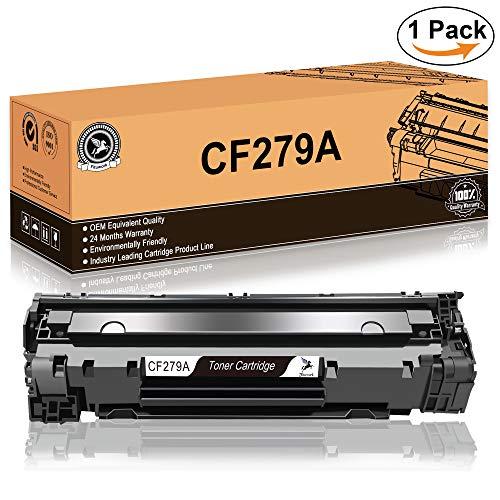 Fituwork 1Black Compatible Reemplazo para HP 79A CF279A Cartucho de tóner trabajado para HP LaserJet Pro MFP M26nw, M26a, HP LaserJet Pro M12w, M12a (1B - 1Pack)