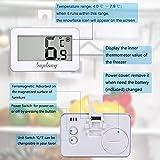 Kühlschrank-Thermometer, SUPLONG digitale wasserdichte Kühlschrank mit Gefrierfach Thermometer mit gut lesbarem LCD-Anzeige Lesen Perfekt für Innen / Außen / Home / Restaurants / Bars / Cafés - 3