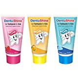 DentoShine Gel Toothpaste for Kids - Pack of 3 Flavors (Strawberry, Mango & Bubble Gum)