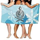 NFHRRE Women's Cottton Spartan Warrior Sword Branches Peace Bath Shower Wrap Towels