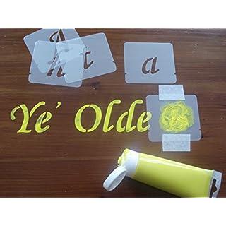 Schablone,, Alphabet Set, Buchstabe Größe 40mm, 50mm, 75mm, 100mm, Schablonen Kit - 100 mm