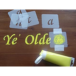 Alphabet Stencil Set, Letter size 40mm, 50mm, 75mm, 100mm (75mm)
