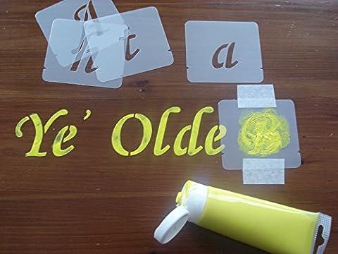 Alphabet Stencil Set, Letter size 40mm, 50mm, 75mm, 100mm (50mm)