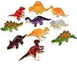10 Assorted Mini Plastic Dinosaur Toys