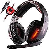 Geräuschreduzierendes Gaming-Headset Für Ps4, Komfortabler, Kristallklarer 3,5-Mm-Kopfhörer Mit 7.1-Gaming-Headset, Schwarz Kopfhörer