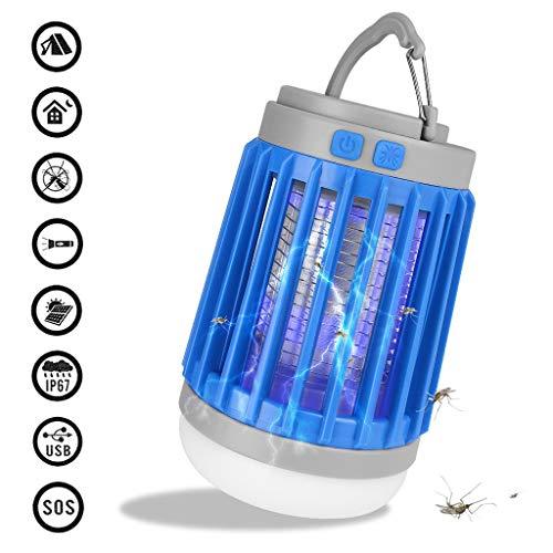 3 in 1 Multifunktion LED Moskito Lampe/Campinglaternen/Taschenlampe,USB Moskito-Mörder,Insektenfalle Lampe,Insektenfallenlampe Schädlingsbekämpfung eignet sich für Küchen, Schlafzimme (Blau) (Geräte Für Schädlingsbekämpfung Die)