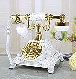FACAI666 Europäisches Wohnzimmer antikes Telefon Haus Schlafzimmer Retro feste Telefon Mode Wählscheibe , white , #2
