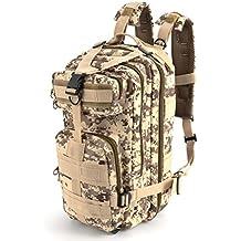 35L 3días Asalto Táctico Militar al Aire Libre Deporte Mochilas Mochila Camping Trekking Senderismo Bolsa Mochila–desierto camuflaje
