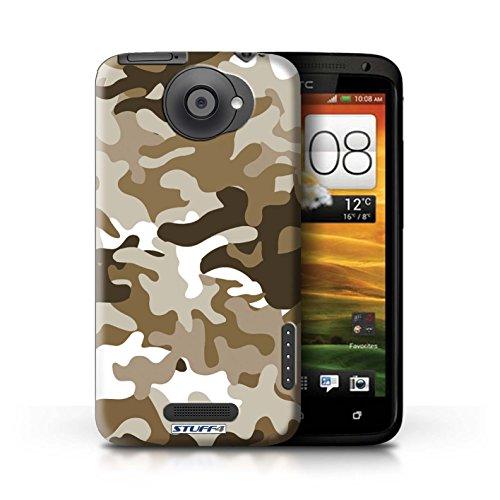 Kobalt® Imprimé Etui / Coque pour HTC One X / Vert 2 conception / Série Armée/Camouflage Marron 1