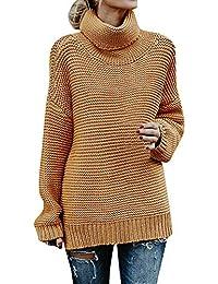 Yvelands Suéteres para Las Mujeres, Suéter de Cuello Alto de Las Mujeres de Manga Larga Blusas Sueltas Top suéter de Punto, Caliente!