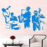 ASFGA Sassofono Jazz Gungju Music Player Sticker Art Tamburo Vinile Basso Vinile murale Decorazione Soggiorno 42X80CM