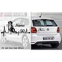 Berner Sennenhund Heartbeat 2 | Hunde Aufkleber | Auto Aufkleber | Heckscheibe Aufkleber | Wunschtext | mit Name | Individuell