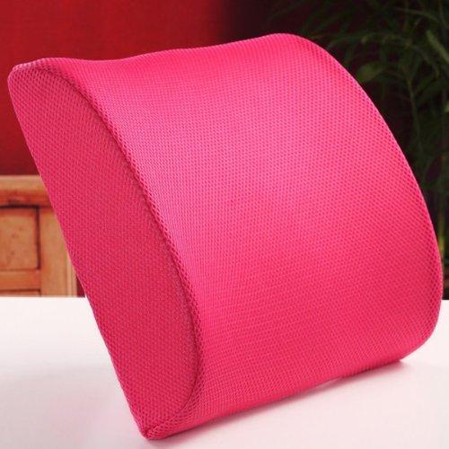 THG Hochelastische Sitzauflage aus Schaumstoff, Sitzkissen für Rückenbeschwerden im Lendenbereich, fürs Auto / fürs Büro / für zu Hause, Rosé
