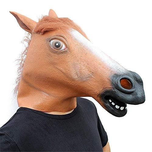 Black Head Kostüm Horse - Maske Maskerade Prom Maske Black Horse Head Maske Halloween Maskerade Show Horse Shape Süße Naturlatex Requisiten
