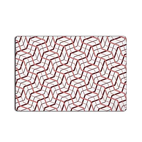 tract Geometric Floor Doormat,Pink 23.6x15.7inch ()