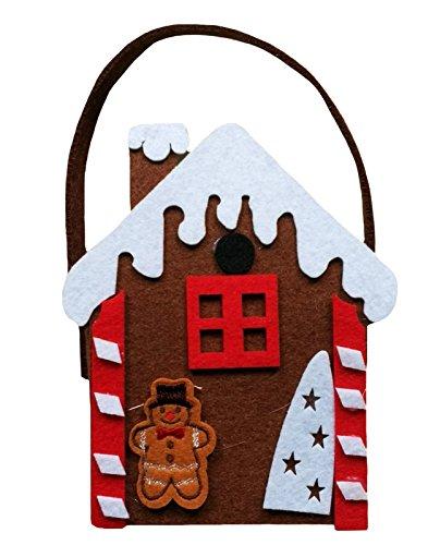 Petitebelle Weihnachten Schnee Lebkuchen-Mann-Haus-Kostüm-Party Zubehör Unisex-Tasche Einheitsgröße Braun