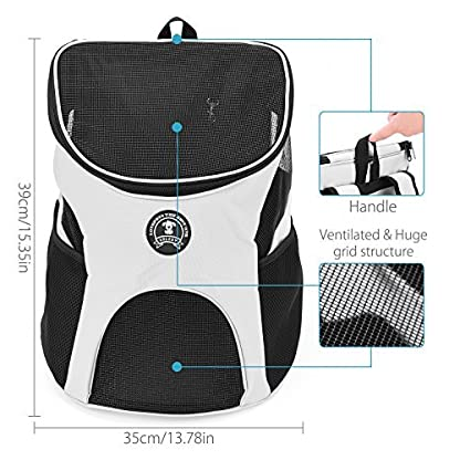 Enledy Dog Cat Pet Travel Carrier Backpack, Soft-sided Durable Cycling Hiking Outdoor Sports Backpack with a folding… 3