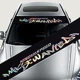 Auto Aufkleber Windschutzscheibe Banner Streifen Racing Streifen Aufkleber Vorne Hinten Fenster Auto Sonnenblende Dekorative Aufkleber Sonnenschutz Aufkleber 8