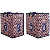 DOUBLE R BAGS Canvas Reusable Shopping Bags (Set of 2) (Multicolored_DRR-Multi)
