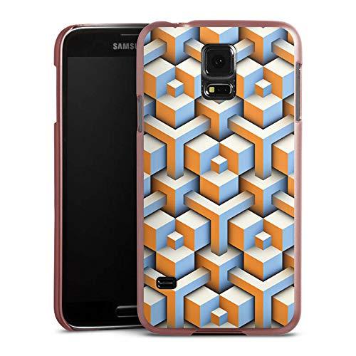 DeinDesign Hülle kompatibel mit Samsung Galaxy S5 Handyhülle Case Pattern Muster Cube - Muster Für Cubes