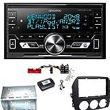 Kenwood DPX-M3100BT Bluetooth USB AUX MP3 Autoradio Einbauset für Mazda MX-5 NC