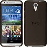 Funda de silicona para HTC Desire 620 - transparente negro - Cover PhoneNatic Cubierta + protector de pantalla