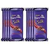 #8: Cadbury Dairy Milk Silk Chocolate Bar, Fruits and Nuts, 55g (Pack of 8)