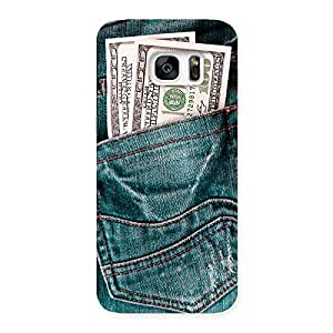 Enticing Full Dollar Jeans Back Case Cover for Galaxy S7 Edge