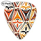 New Guinea Masks 3e_2055 Classic Celluloid Picks, 12-Pack, For Electric Guitar, Acoustic Guitar, Mandolin, And Bass