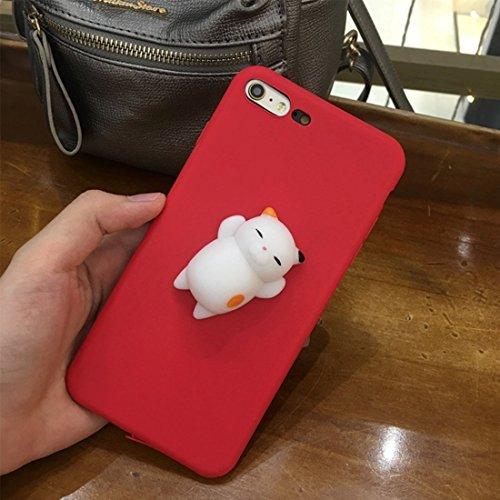 Mobiltelefonhülle - Für iPhone 6 Plus & 6s Plus 3D Lovely Katze Cartoon Pattern Squeeze Relief Squishy Schutzmaßnahmen zurück Fall Fall ( Großauswahl : Ip6p8792b )