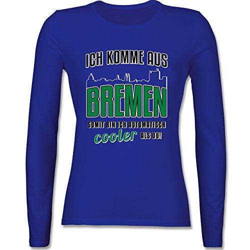 Städte - Ich komme aus Bremen - tailliertes Longsleeve / langärmeliges T-Shirt für Damen Royalblau