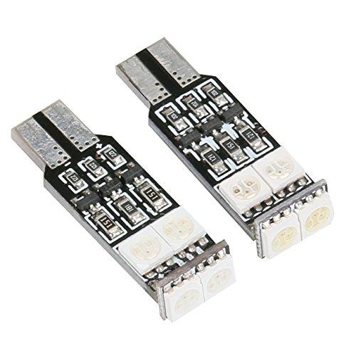 Auto-geführte helle Innen, 2Pcs LED Auto-Innenverkleidungs-Lampe, Selbstauto-Innenleseplatte-Licht-Dach-Decken-Innenverdrahtete Lampe mit T10-Adapter, Girlande-Adapter (DC-12V) (5050-6SMD) -