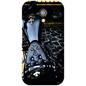 Motorola Moto G (2nd Gen) Back Cover - Black Bike Designer Cases