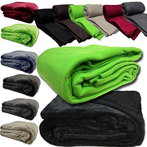 Kuscheldecke Microfaser Decke von JEMIDI Flanell Fleece Wohndecke Sofadecke Bettüberwurf Sofa Decke erhältlich in 3 Größen bis XXL