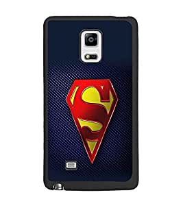 PrintDhaba Superman Logo D-2098 Back Case Cover for SAMSUNG GALAXY NOTE 4 EDGE (Multi-Coloured)
