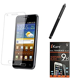 iKare Premium Shatter Proof Tempered Glass Ultra Clear Screen Protector for Sony Xperia C5 Ultra + Touch Screen Stylus