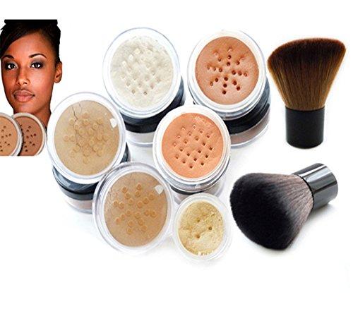 s® Make-up-Mineralpuder-Set, Töne: Dark-Warm und Warm, mit Pinsel ()
