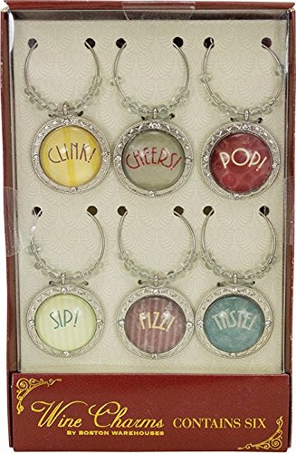 Cheers Metal Wine Charm Set 19 713 by Boston Warehouse