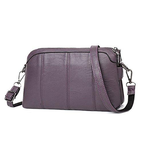ZPFME Borsetta Donna Tote Casual Moda Borsa Donna Shopper Cuoio Party Retro Banchetto Purple