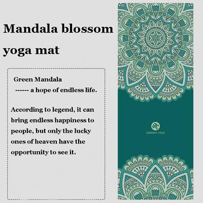 YOOMAT Fitness Yoga-Matte 183 * 68 cm tragbare Rutschfeste Naturkautschuk Einhorn Yoga-Matte...